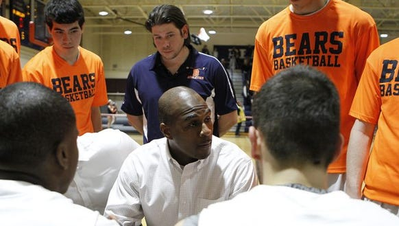 Briarcliff coach Cody Moffett pictured during his team's 2015-16 season.