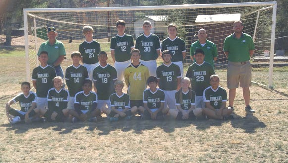 The Blue Ridge soccer team.