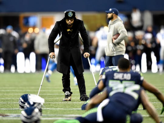 Seahawks safety Earl Thomas had to watch his team's playoff win over Detroit on crutches in January. He's back at nearly full strength as training camp begins.
