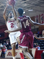 Marist College's Brian Parker takes a floater against