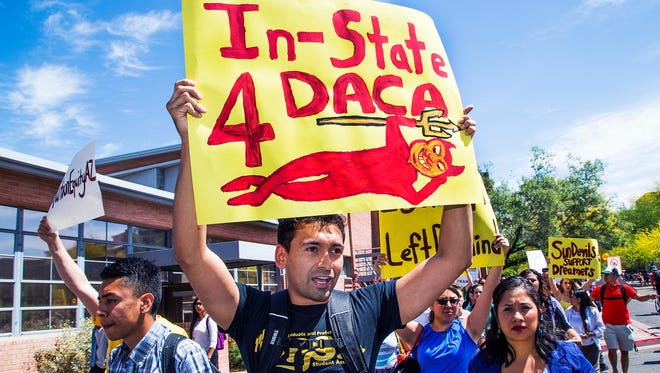 """The Arizona Board of Regents reversed a long-standing decision Thursday and will allow the undocumented students known as """"dreamers"""" to pay in-state tuition rates rather than higher non-resident rates."""