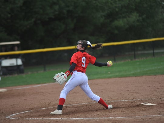 Bucyrus at Colonel Crawford softball on April 18, 2018.