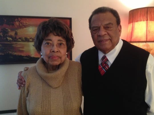 Dorothy Cotton, of Ithaca, and Andrew Young, of Atlanta, participated in the first Dorothy Cotton Institute Gala in 2013.