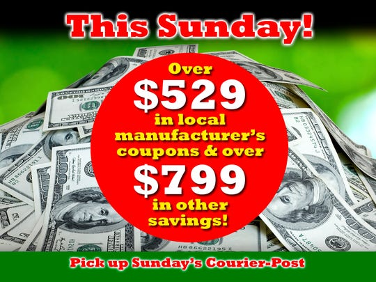 Pick up Sunday's Courier-Post and save money!