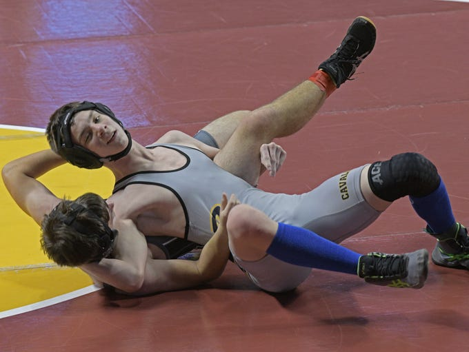 Wrestlers compete at the LHSAA State Wrestling Tournament