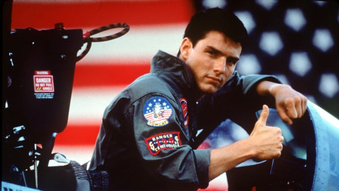 There's a surprising number of 'Top Gun' promotional pictures with Tom Cruise doing a really serious thumbs up.