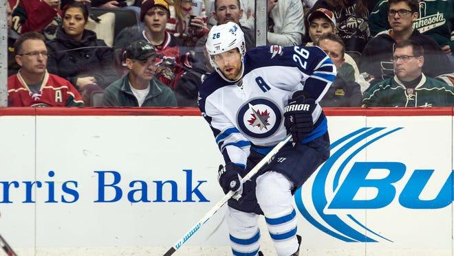 Blake Wheeler has been named captain of the Winnipeg Jets.