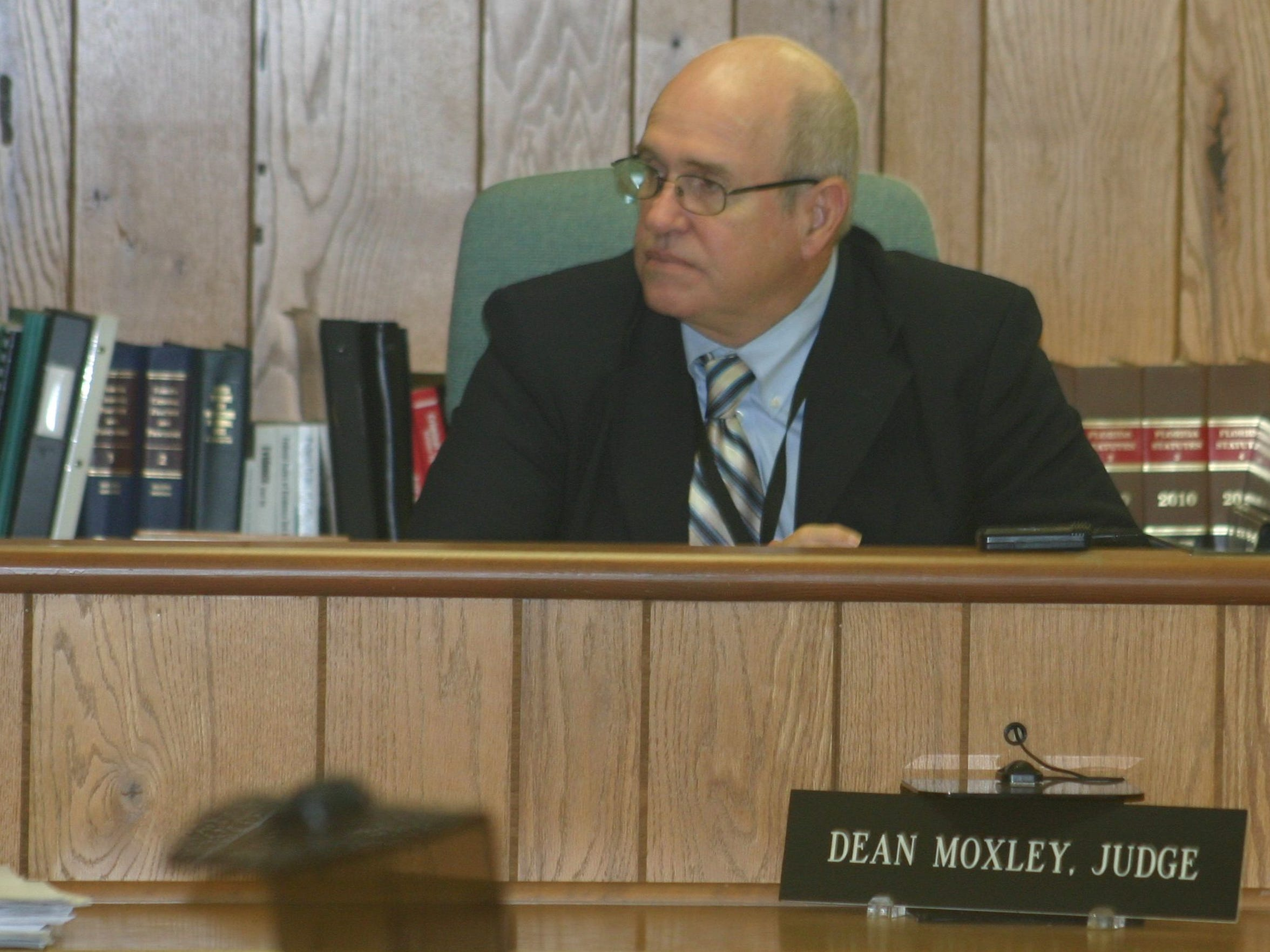 Circuit Judge John Dean Moxley Jr. during a hearing involving the Economic Development Commission of Florida's Space Coast on Friday, Jan. 31, 2014 at the Titusville Courthouse.