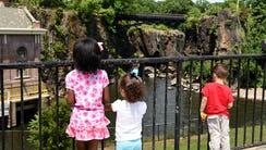 Nila Ruiz, 9, and twins Monroe Garcia and Prince Garcia,