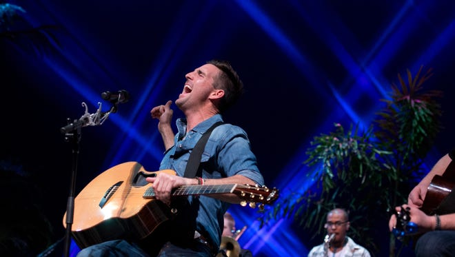 Country recording artist and Vero Beach native Jake Owen appeared with Lady Antebellum member Charles Kelley on Dec. 9, 2016, to a packed  house at the Vero Beach High School Performing Arts Center for a Jake Owen Foundation Benefit Concert. He is scheduled to appear at this year's Beach Town Music Festival on Dec. 8 in Vero Beach.