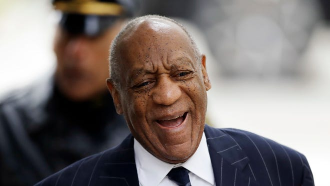 Bill Cosby arrives for the third day of his sexual assault retrial on Wednesday, April 11.