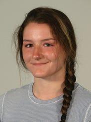 Caledonia-Mumford catcher Meghan Mietlicki.