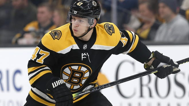 Former Bruins defenseman Torey Krug has signed a seven-year contract worth $6.5 million per season with the St. Louis Blues.