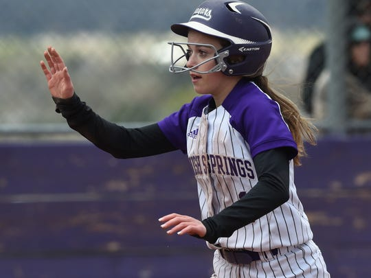 Spanish Springs' Savannah Martin gets a high-five after