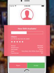 A screenshot from the SnapShyft app.