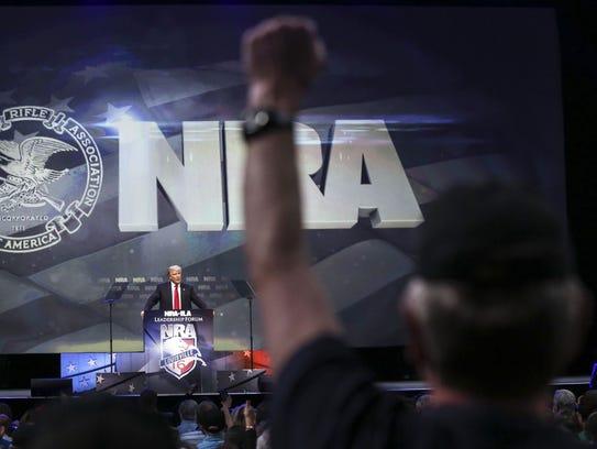 Donald Trump in Louisville in 2016.