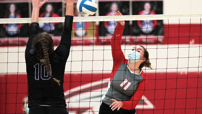 Madi Tulley earned all-league honors for the volleyball season.