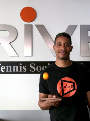 """Diablo Smith, 41, owner of Drive Table Tennis Social Club in the Penobscot Building in Detroit. """"Learning how to pivot in business has been one of my big learning lessons"""" said Diallo on Thursday, May 26, 2016, as he gets ready for a busy weekend."""