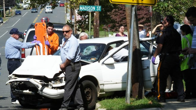A Sayreville man was injured in a two-vehicle accident Sept. 19 on South Pine Avenue between Liberty and Madison Streets in the Morgan section of the borough.