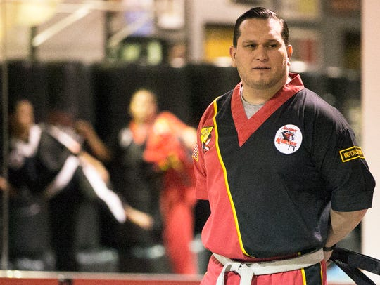 Laco Villanueva is a karate instructor at Alchemy Karate