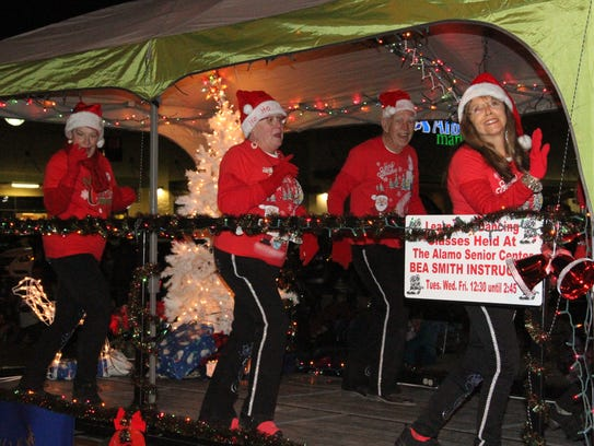 Some float participants were over joyed with Christmas