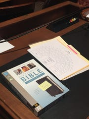 Newly elected Iowa Senate members found Bibles on their
