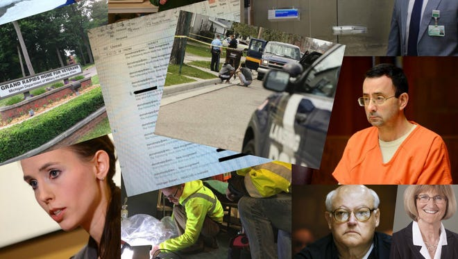 A collage of photos that accompanied LSJ investigations in 2017.