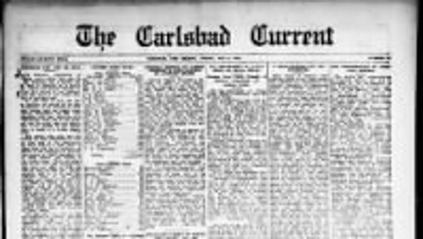 The Carlsbad Current front, May 9, 1919