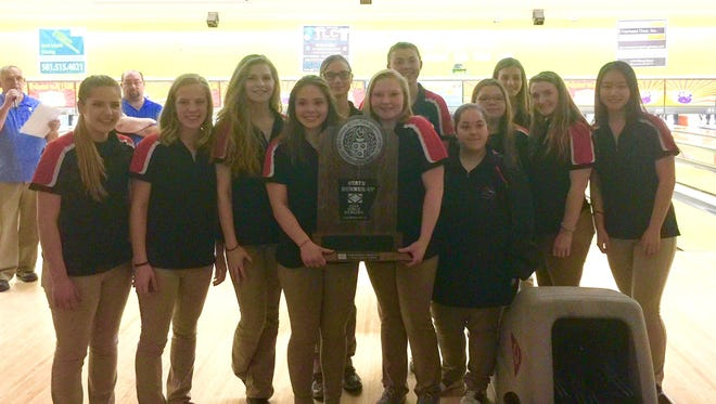 The Norfork Lady Panthers finished as runners-up at the 3A/2A/1A State Bowling Tournament on Wednesday at Cabot.
