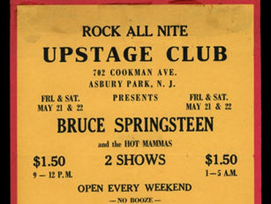 A 1971 flier from Asbury Park's Upstage Club advertises