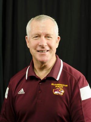 Bloomington North coach Charlie Warthan