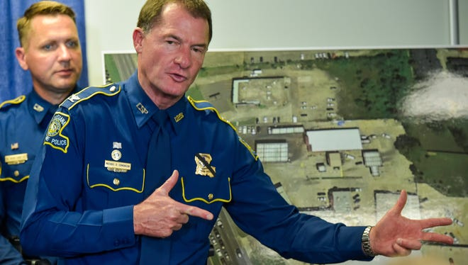 Louisiana State Police Col. Mike Edmonson explains shooters actions during the shooting that claimed the lives of three Baton Rouge Police. July 18, 2016