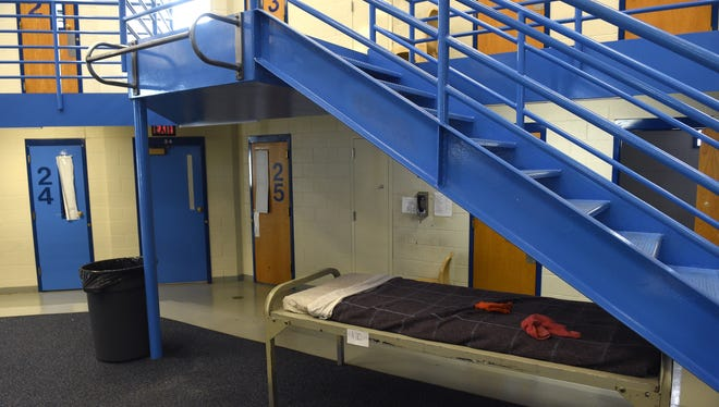 The interior of the Washoe County jail in Reno on Aug. 18, 2016.
