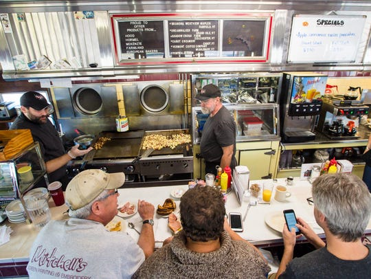 Patrons enjoy breakfast at the Parkway Diner in South