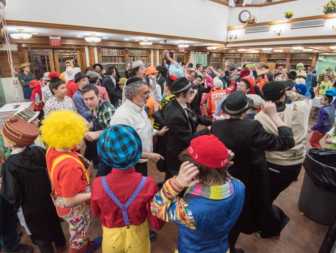 Purim celebration  at Kollel Ner Avrohom (KNA) Lakewood.