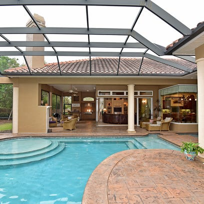 4412 Soundside Drive,  view from the pool toward the