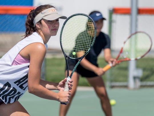 College of the Sequoias women's tennis players Katrina