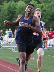 Suffern's Myles Solan won the 400-meter run at the Rockland County Track and Field Championships at Clarkstown South May 19, 2017.
