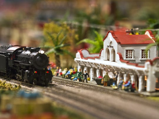 A view of the model railroad display at Shell Point
