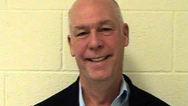 This Aug. 25, 2017 booking photo provided by the Gallatin County Detention Center shows U.S. Rep. Greg Gianforte, R-Montana. A Montana judge has ordered the release on Monday, Oct. 10, 2017, of the mug shot taken of the state's lone Congressman after he was convicted of assaulting a reporter on the eve of the special election that put him in office. Gallatin County District Judge Holly Brown ruled that the booking shot of Gianforte should be made public. ( Gallatin County Detention Center via AP)