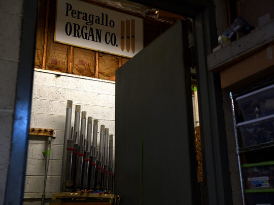 The Peragallo Pipe Organ Company in Paterson, a fourth-generation run family owned business, is celebrating its 100th anniversary this year.The company builds and repairs organs for many churches around New Jersey - including St. Patrick's Cathedral in NYC, Radio City Music Hall, as well as churches in Atlantic, Phoenix, Texas, Virginia and South Carolina. The voicing room for pipes at the Peragallo Pipe Organ Company in Paterson.