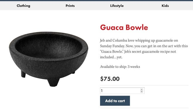 "The $75 ""Guaca Bowle."""