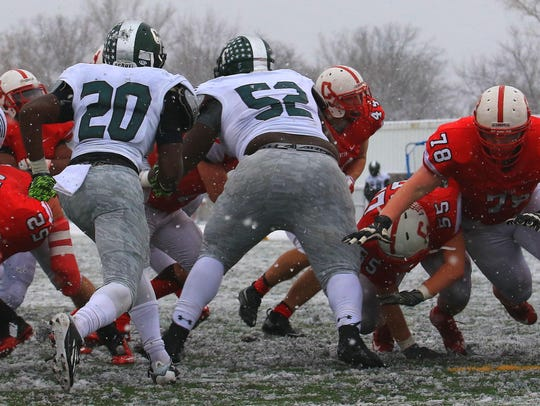The snow-covered trenches were no problem for the Chiefs