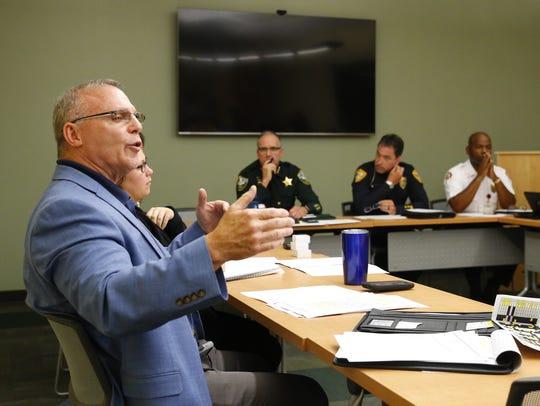 CDA interim director Tim Mahler during a management