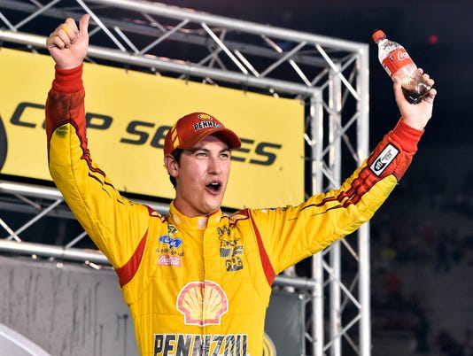 Joey Logano beats teammate to win at Bristol