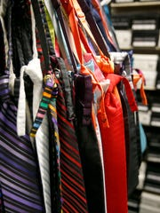 Colorful ties at Tuxedo Park Formal Wear in Shrewsbury