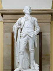 A statue of Muhlenberg is displayed in the U.S. Capitol.