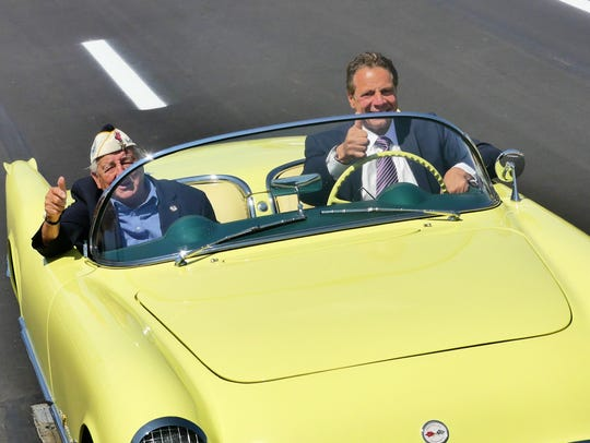 Governor Cuomo drove Chick Galella acrcoss the Rockland