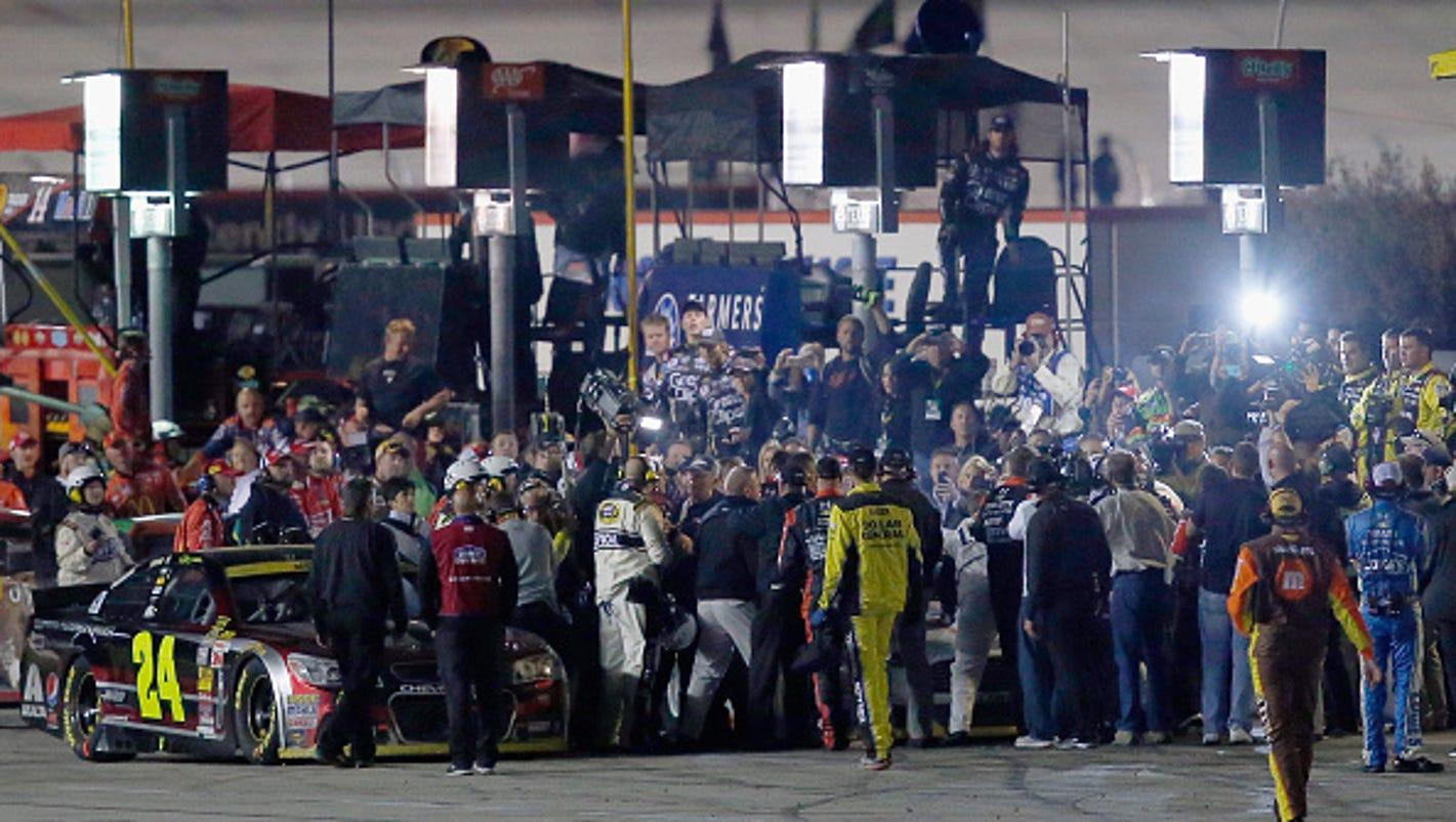 Hendrick Motors Of Charlotte >> NASCAR Penalizes 6 Hendrick Crew Members For Fight