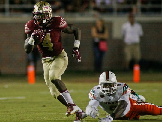 Dalvin Cook chose Florida State over his hometown Hurricanes. Cook rushed for 222 yards against Miami.